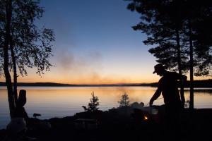 Kampeerplek Bredsjön meer